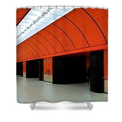 Munich Subway IIi Shower Curtain by Hannes Cmarits
