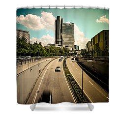 Munich Traffic Shower Curtain by Hannes Cmarits