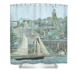 Munjoy Hill Shower Curtain
