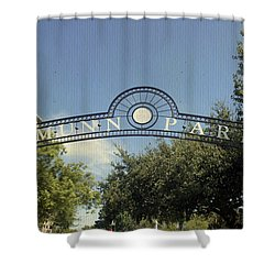 Munn Park Shower Curtain by Laurie Perry