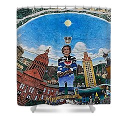 Mural Of Stephen F Austin Off Guadalupe Shower Curtain