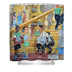 Mural Painting In Poitiers Shower Curtain by RicardMN Photography