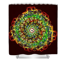 Murano Glass - Red Shower Curtain by Anastasiya Malakhova