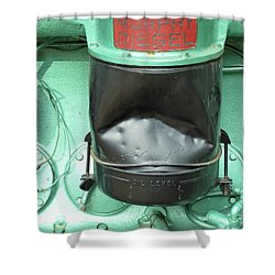 Shower Curtain featuring the photograph Murphy Diesel by Newel Hunter