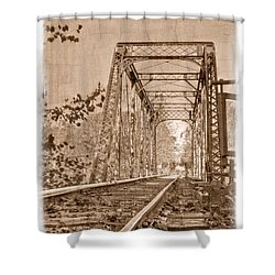 Murphy Trestle Shower Curtain by Debra and Dave Vanderlaan