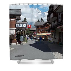 Murren Switzerland Shower Curtain