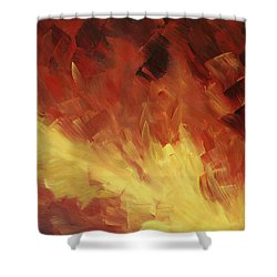 Muse In The Fire 2 Shower Curtain by Sharon Cummings