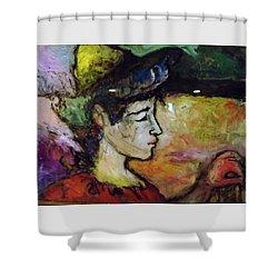 Muse Struck Shower Curtain by Mykul Anjelo