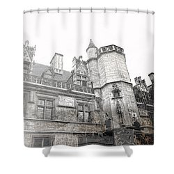 Musee De Cluny When The World Was Flat Shower Curtain by Evie Carrier