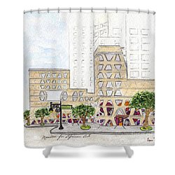The Africa Center Shower Curtain