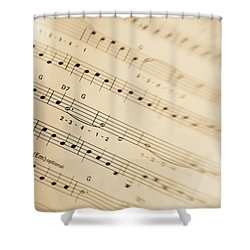 Music Shower Curtain by Alexey Stiop