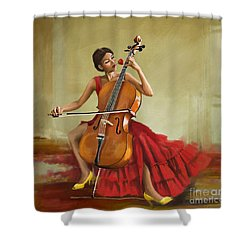 Music And Beauty Shower Curtain by Corporate Art Task Force