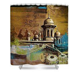 Music And Culture Shower Curtain by Catf