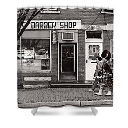 Music - Bag Piper - Somerville Nj -  The Scottsman Shower Curtain by Mike Savad