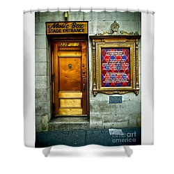 Music Box Stage Entrance Shower Curtain
