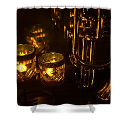 Trumpet And Candlelight Shower Curtain