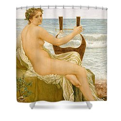 Music Shower Curtain by Henry Holiday