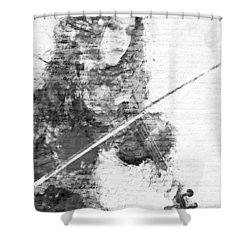 Music In My Soul Black And White Shower Curtain by Nikki Marie Smith