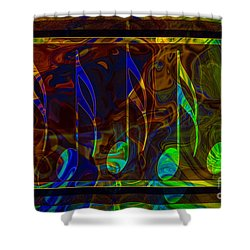 Music Is Magical Abstract Healing Art Shower Curtain