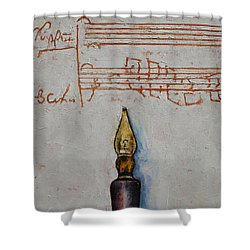Music Shower Curtain by Michael Creese