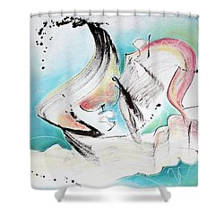 Music Of Sea Waves Shower Curtain