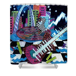 Music On The River Stl Style Shower Curtain by Genevieve Esson
