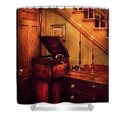 Music - Record - The Victrola Shower Curtain by Mike Savad