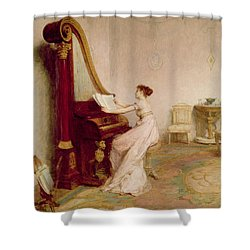Music When Soft Voices Die, Vibrates Shower Curtain by Sir William Quiller Orchardson
