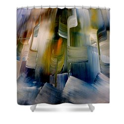 Music With Paint Shower Curtain by Lisa Kaiser