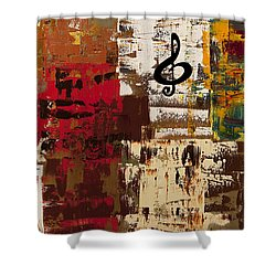 Music World Tour Shower Curtain by Carmen Guedez