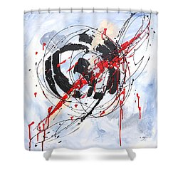 Musical Abstract 002 Shower Curtain
