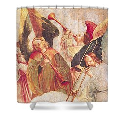 Musical Angels, Detail From The Assumption Of The Virgin Shower Curtain