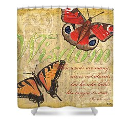 Musical Butterflies 4 Shower Curtain