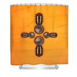 Musical Cross Shower Curtain by Doron Mafdoos