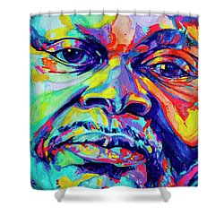 Musical Genuis Shower Curtain by Derrick Higgins