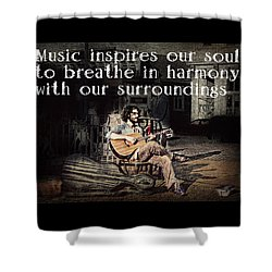 Musical Inspiration Shower Curtain by Melanie Lankford Photography