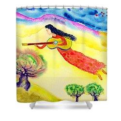 Musical Spirit 12 Shower Curtain