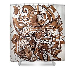 Musical Theater Shower Curtain by Nancy Kane Chapman