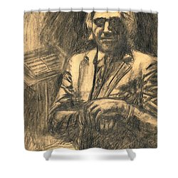Musician Shower Curtain by Kendall Kessler