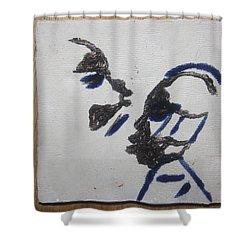 Musicman - Tile Shower Curtain by Gloria Ssali