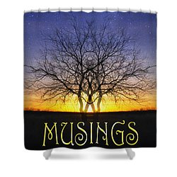 Musings Cover Shower Curtain
