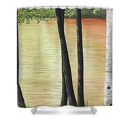 Muskoka Lagoon Shower Curtain by Kenneth M  Kirsch
