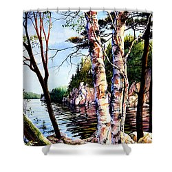 Muskoka Reflections Shower Curtain by Hanne Lore Koehler
