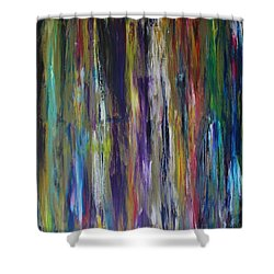 Shower Curtain featuring the painting Must First Survive Thyself by Michael Cross