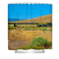Mustang Days Shower Curtain by Mayhem Mediums