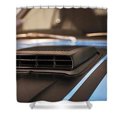 Mustang Mach 1 Shaker Hood Scoop Shower Curtain