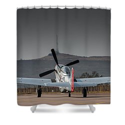 Mustang Power Shower Curtain by Paul Job