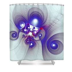 Mutant Octopus Shower Curtain by Anastasiya Malakhova