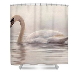 Mute Swan Painting Shower Curtain