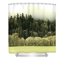Shower Curtain featuring the photograph Muted Hillside Colors by Katie Wing Vigil